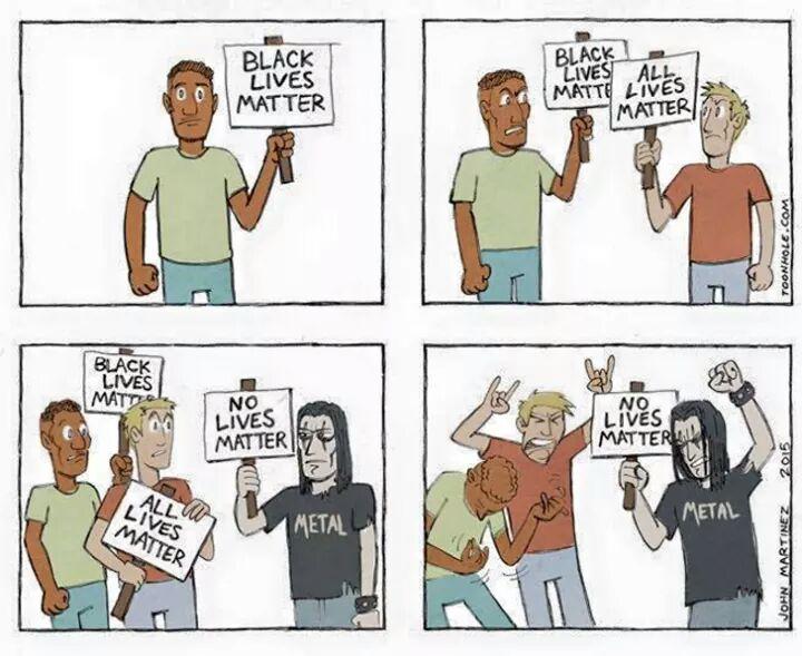 black lives matter no lives matter