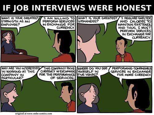 job interviews honest